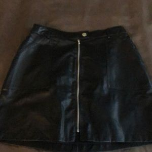 Hot leather skirt never worn.